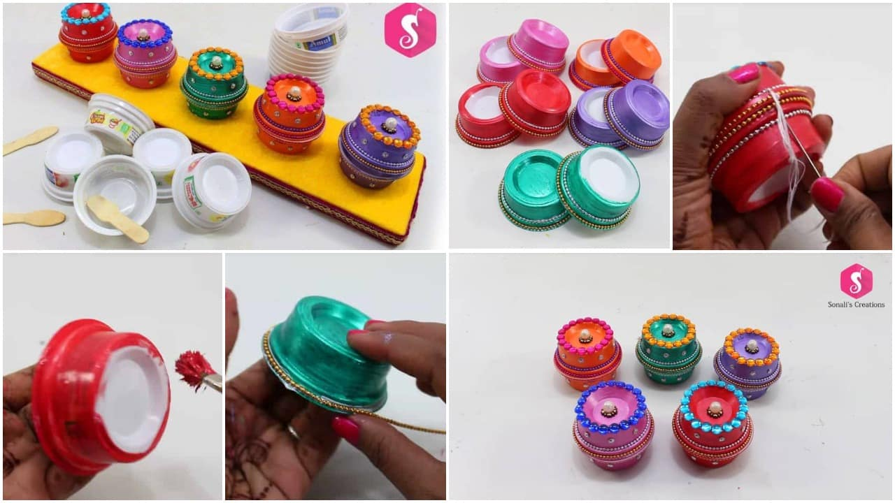 recycling Ice cream cups