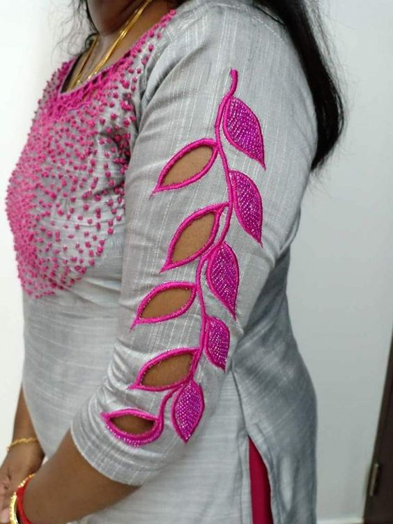 Cut work embroidery