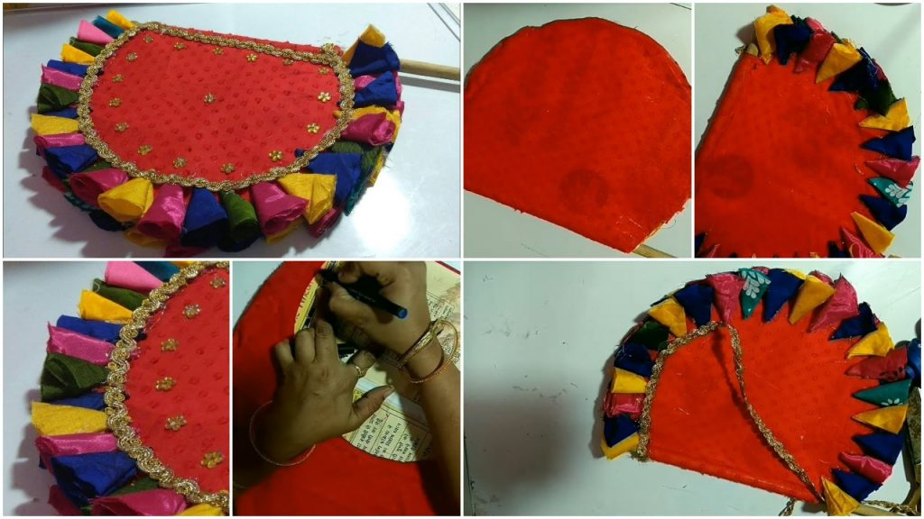 How To Make Hand Fan From Waste Aata Bag And Old Clothes Simple