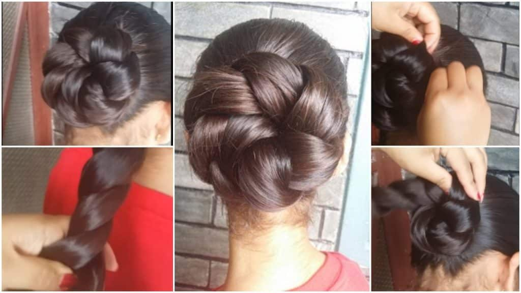 summer twisted updo