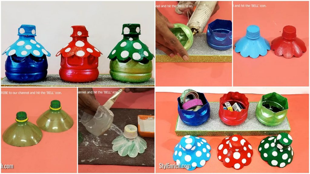 How To Make Organizer From Plastic Bottle Simple Craft Ideas