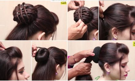 Beautiful hairstyle for wedding,party and function