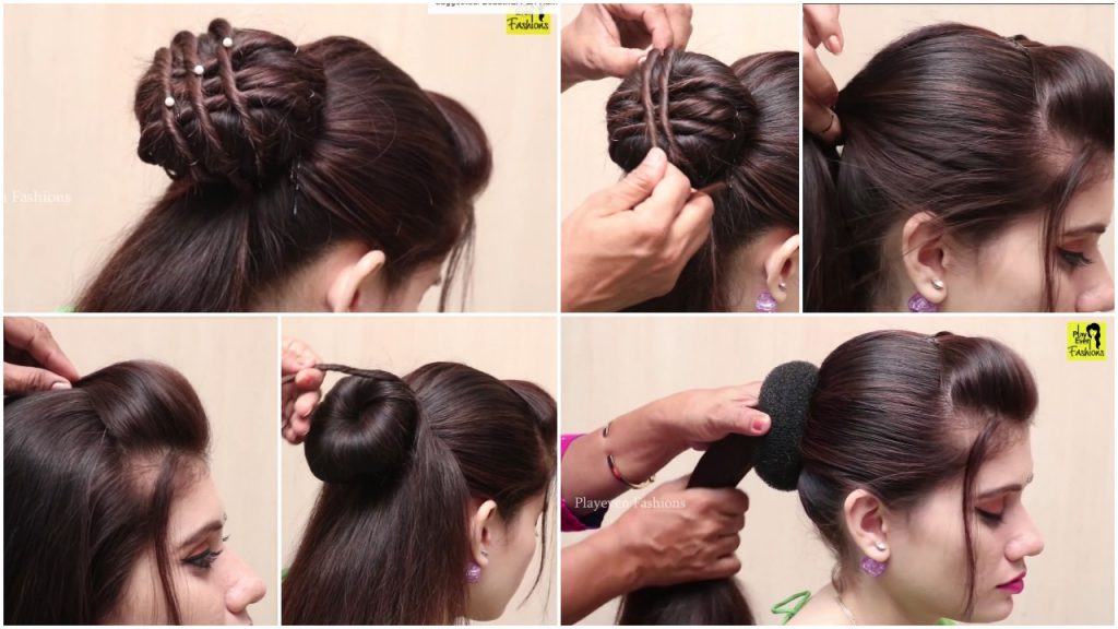 Beautiful Hairstyle For Wedding Party And Function Simple Craft Ideas