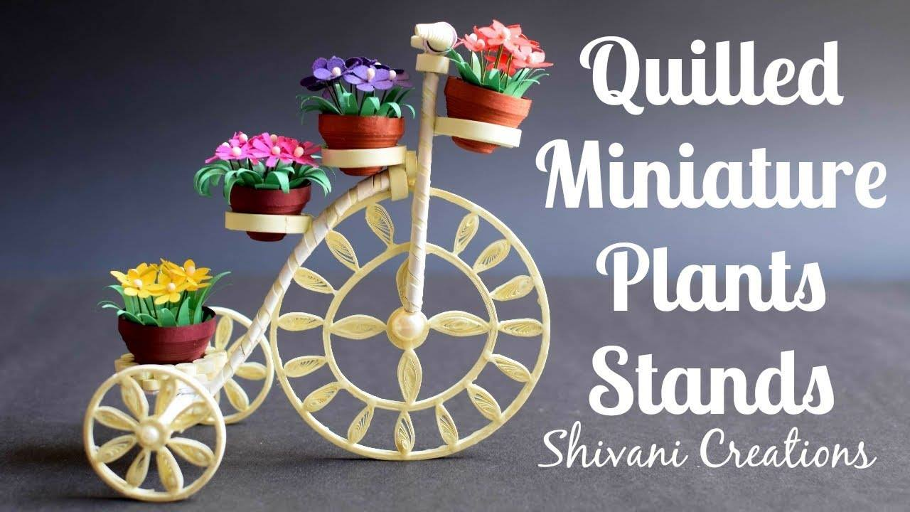 Tricycle Miniature Plant Stand