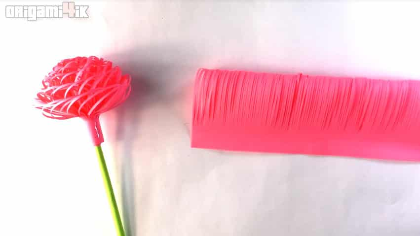 fluffy paper flowers