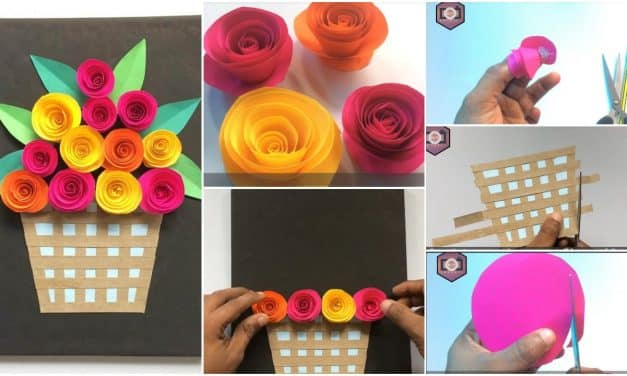 How to make rose flower with frame
