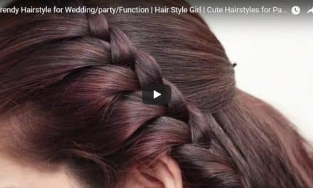 Trendy hairstyle for wedding,party and function