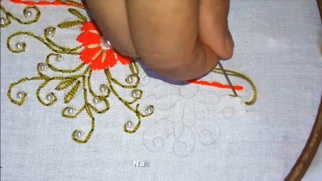 Hand Embroidery Neck Designs Step By Step Artsycraftsydad