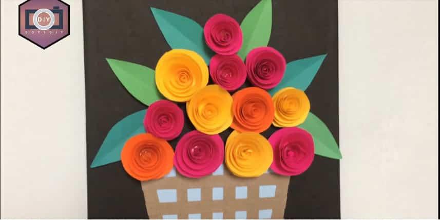 rose flower with frame