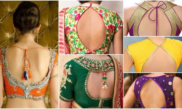 Stylish back hook designs for your Saree blouses