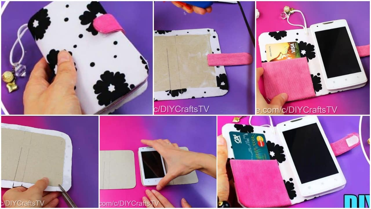 How To Make A Cute Phone Case Really Easy Simple Craft Ideas