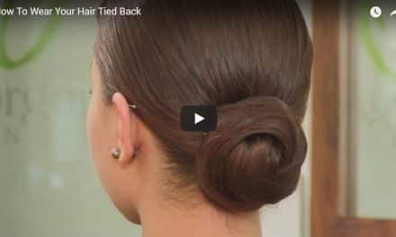 How to wear your hair tied back