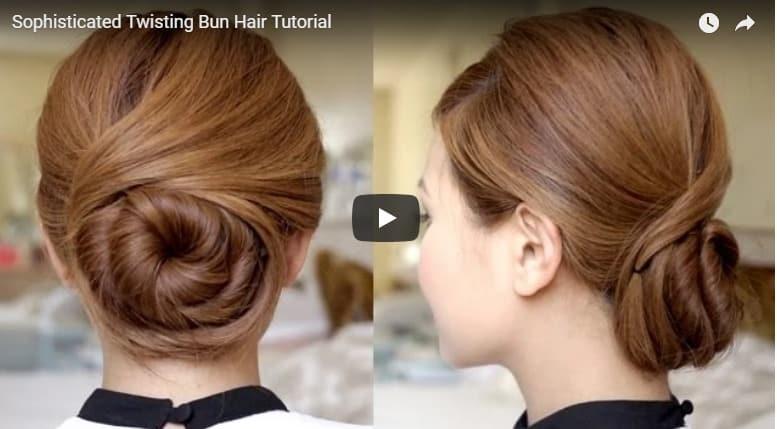 Twisting bun hair