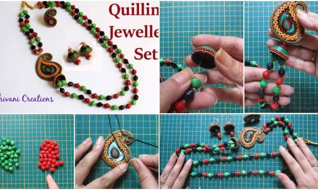 How to make paper quilling necklace set