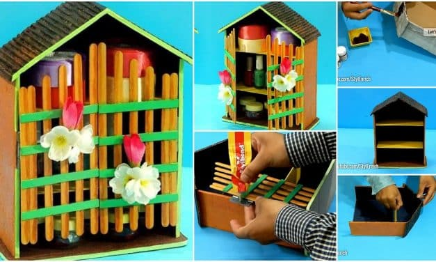 How to reuse cardboard to make jewelry organizer