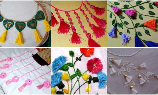 How to make tassel decorated kurti