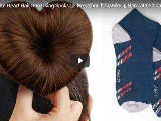 heart hair bun