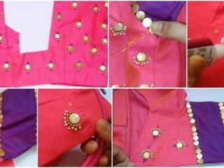 chandbali model on blouse
