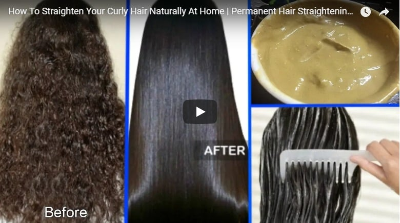 straighten your curly hair