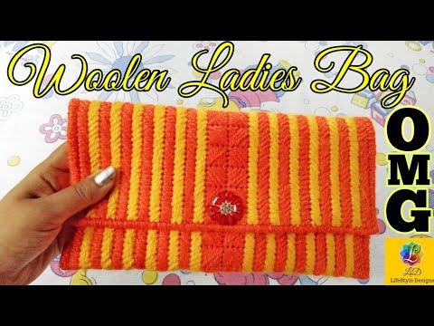 woolen ladies hand bag