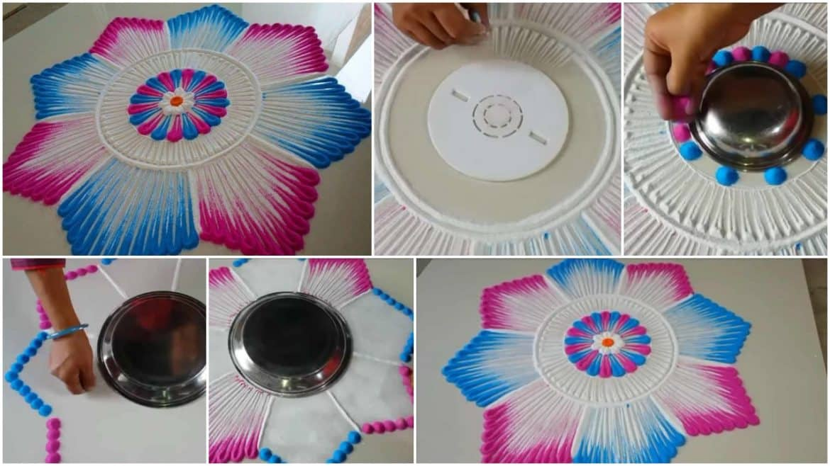 Very Simple And Beautiful Rangoli Design Simple Craft Ideas