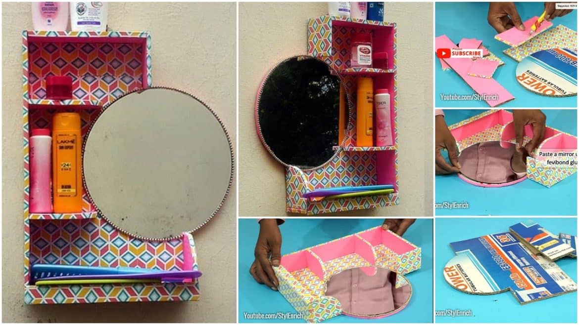 Multipurpose Organizer From Waste Material Simple Craft Ideas