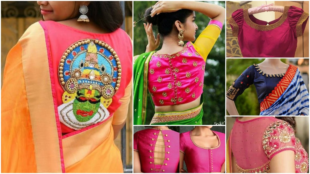 0400133369 Trendy silk saree blouse designs catalogue 2018 - Simple Craft Ideas