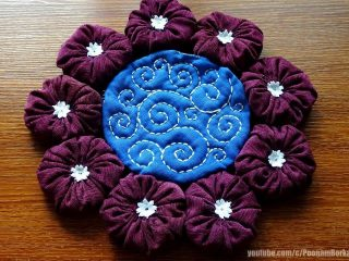 How To Make Ribbon Work Saree Simple Craft Ideas