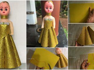 doll dress with foam