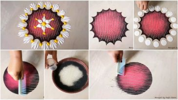 rangoli using various tools