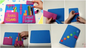 pencil case from foam sheet