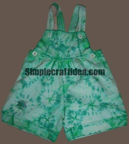 How to make batik dress: Shibori on shorts