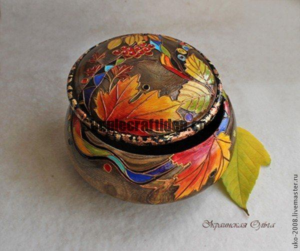 """Autumn rainbow"" box"