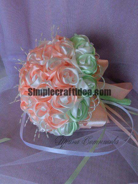Bouquet of satin ribbon