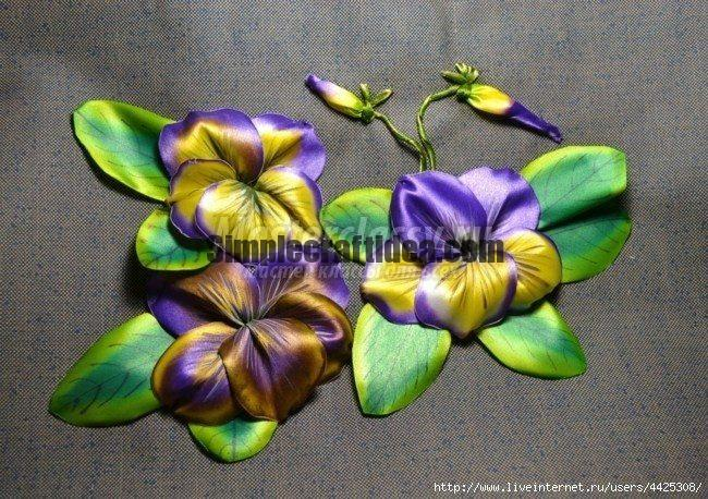 Embroidery pansy flower