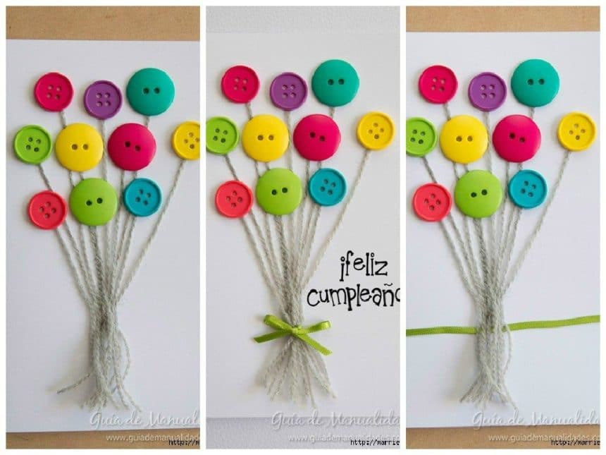 Cute card with balloons