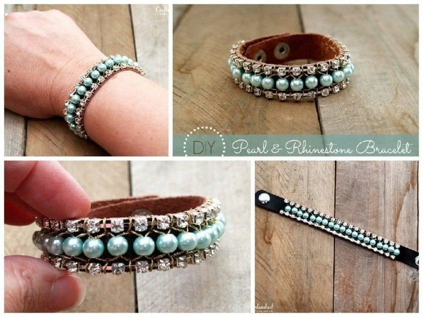 Exclusive Pearl Rhinestone Hand Chain Bracelet