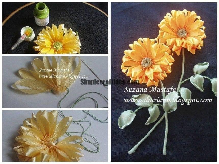 Mini workshops on colors of ribbon