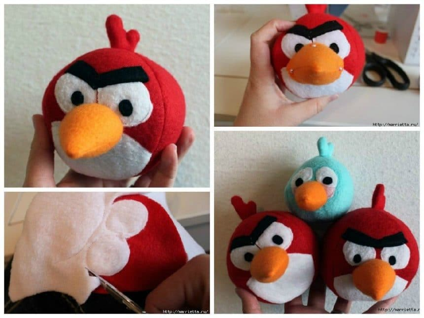 Angry Birds sew from felt