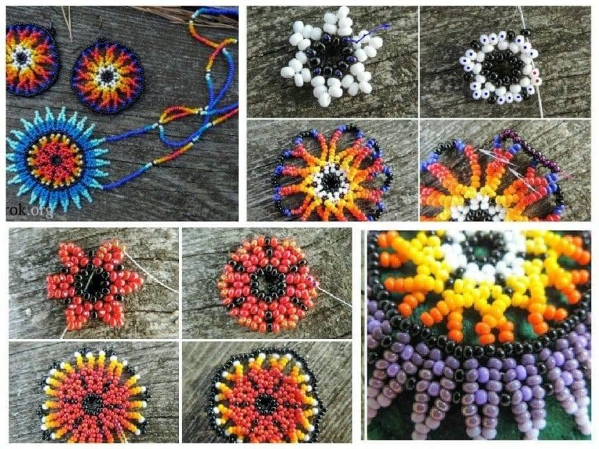 Indian amulet bead earrings
