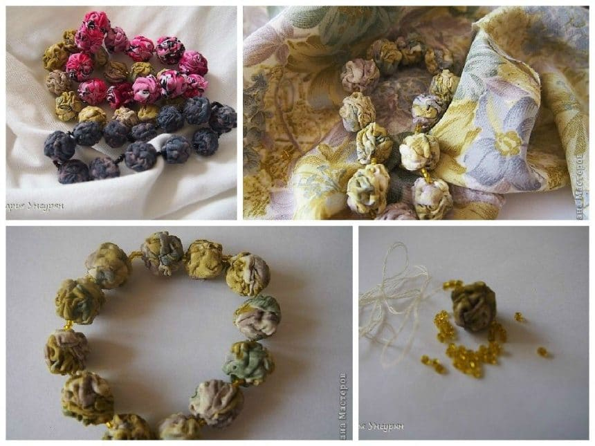 Textile beads and bracelets