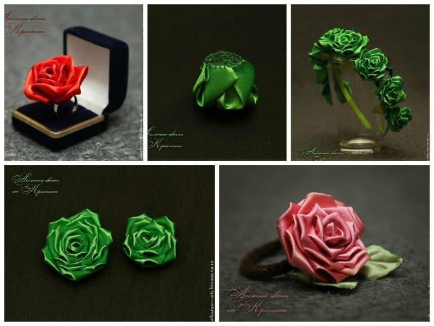 Making a rose in the art kanzashi