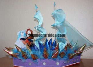 Wedding ship from sweets
