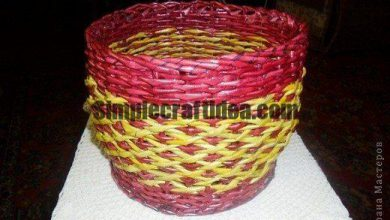 Wicker plant pots from newspaper tubes