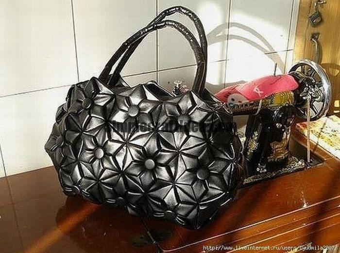 The bag made of leather