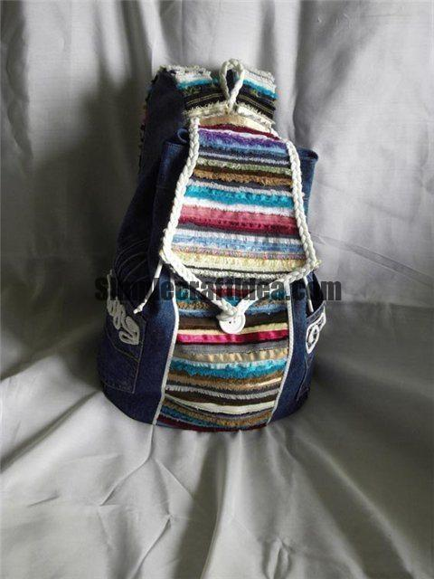 Backpack from jeans