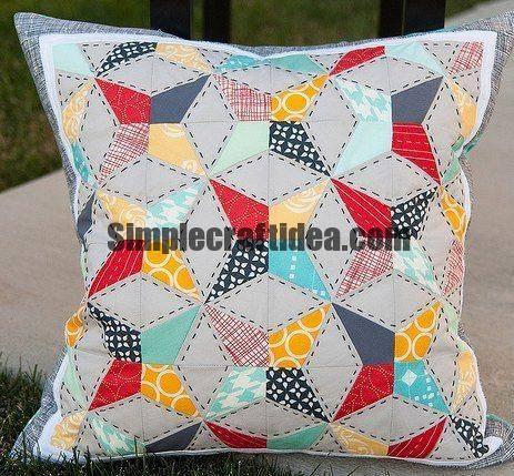 Kaleidoscope block patchwork