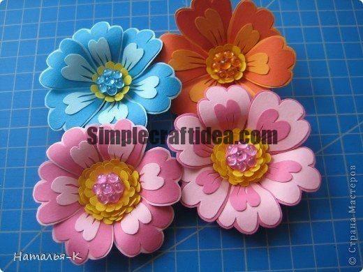 Flowers made of cardboard