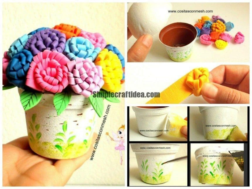 Foamiran flower -Easy Craft Ideas
