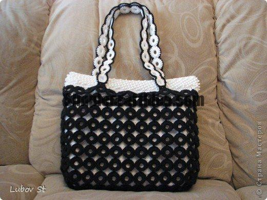 Handbag of the rings with beads